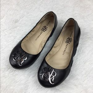 Rock & Republic Black Ballet Flat Scrunchy 6